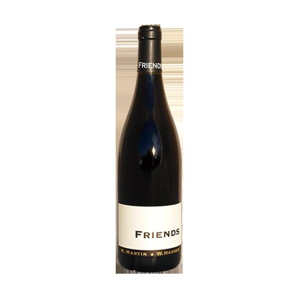 FRIENDS Rotweincuvèe. Strahlendes Rot mit tiefer Frucht. Burgundische Nase mit Weinviertler Note im Abgang. Je älter, desto besser!