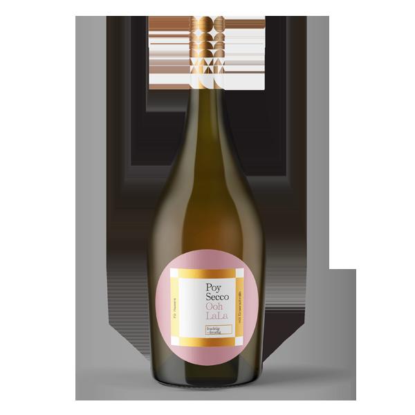 Poy-Secco Ooh La La (vormals SMILE). Unser Poy-Secco Ooh La La ist ein Frizzante, also ein Wein mit zugesetzter Kohlensäure. Lässt sich geschmeidige 24 Stunden am Tag trinken und ist bekömmlich: Wenig Alkohol, wenig Kohlensäure. Belebt und erfrischt.